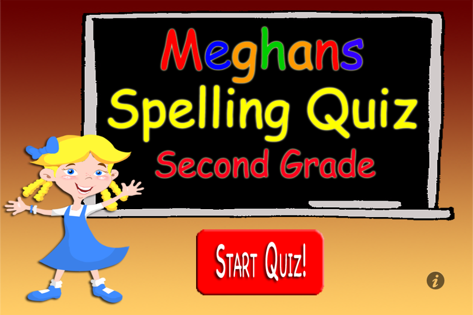 Screenshot Meghan's Spelling Quiz 2nd Grade